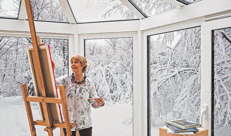 Mitten im Winter und dennoch wohlig warm: Ein Wintergarten macht's möglich. FOTO: DJD/SONNE-AM-HAUS.DE