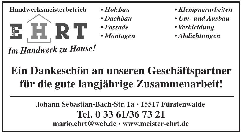 Handwerksmeisterbetrieb Mario Ehrt