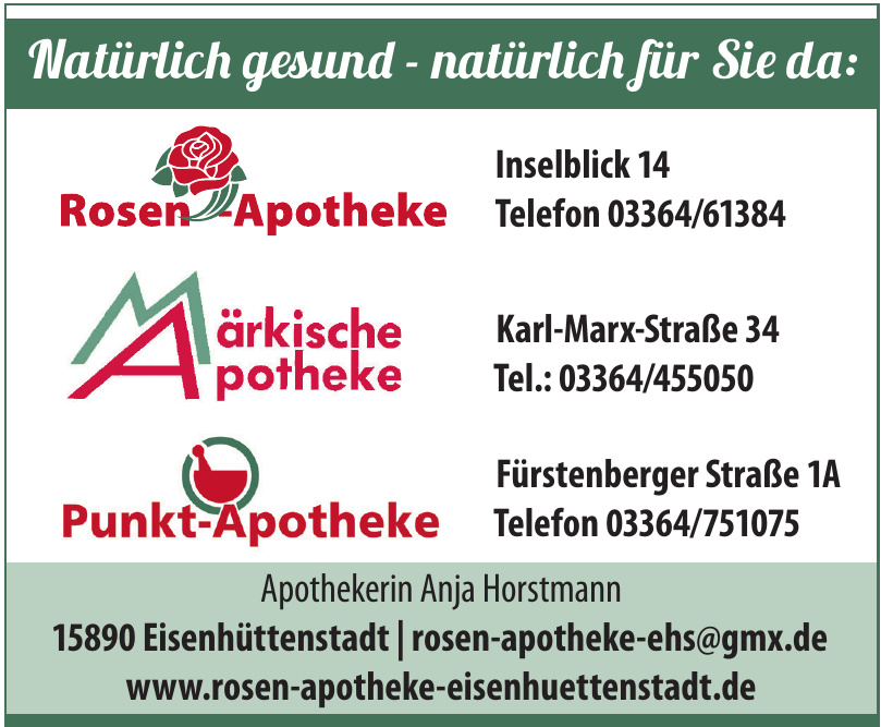 Rosen Apotheke Eisenhüttenstadt