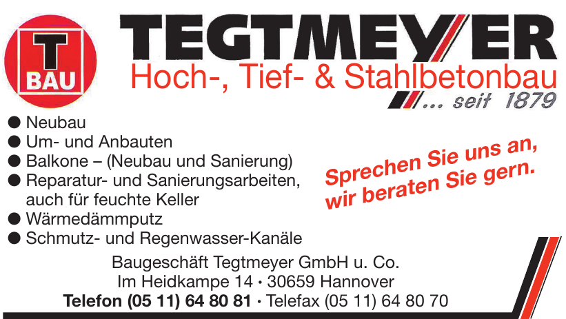 Baugeschäft Tegtmeyer GmbH u. Co.