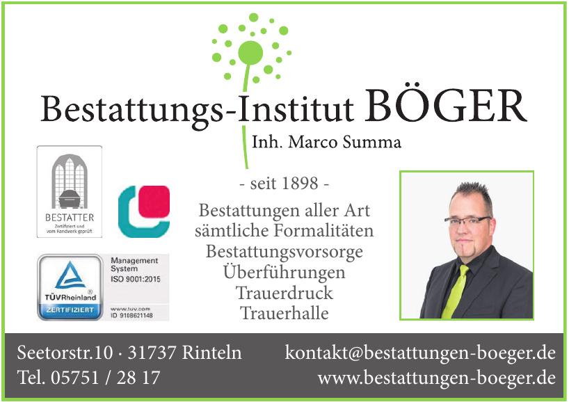 Bestattungs-Institut Böger