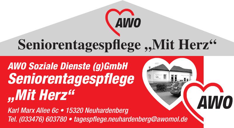 """AWO Seniorentagespflege """"Mit Herz"""""""