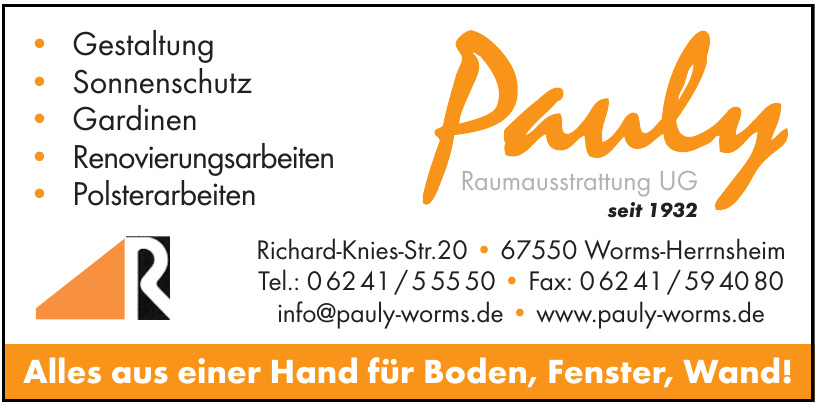 Pauly Raumausstatter Meisterbetrieb