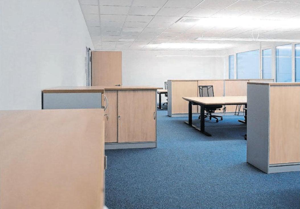 Auch Büros finden im Neubau der Firma EPflex Platz.