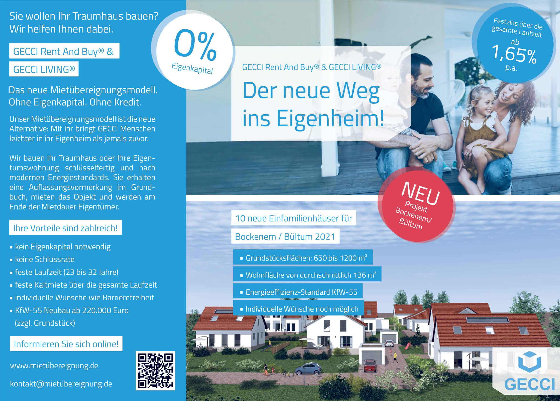 Gecci Rent And Buy® und Gecci Living®