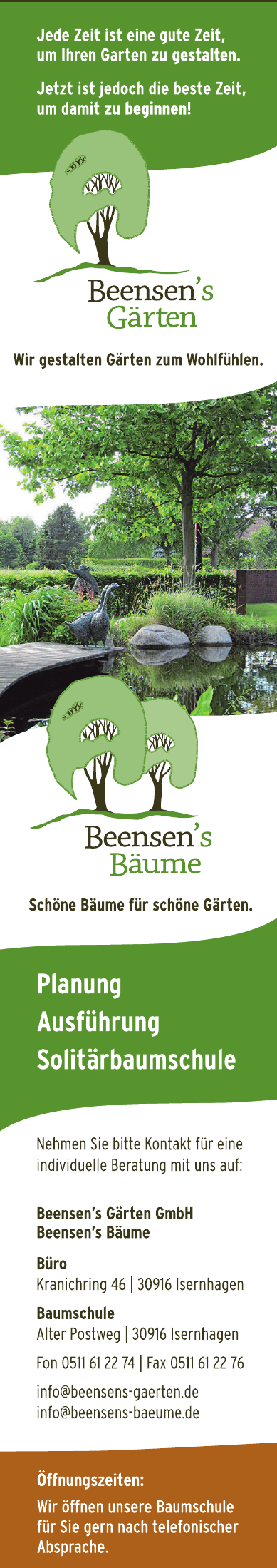 Beensen's Gärten GmbH  Beensen'sBäume