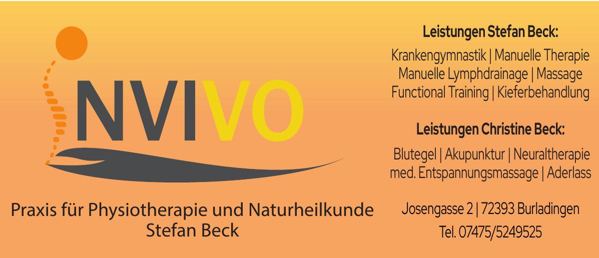 Invivo - Praxis für Physiotherapie und Naturheilkunde Stefan Beck