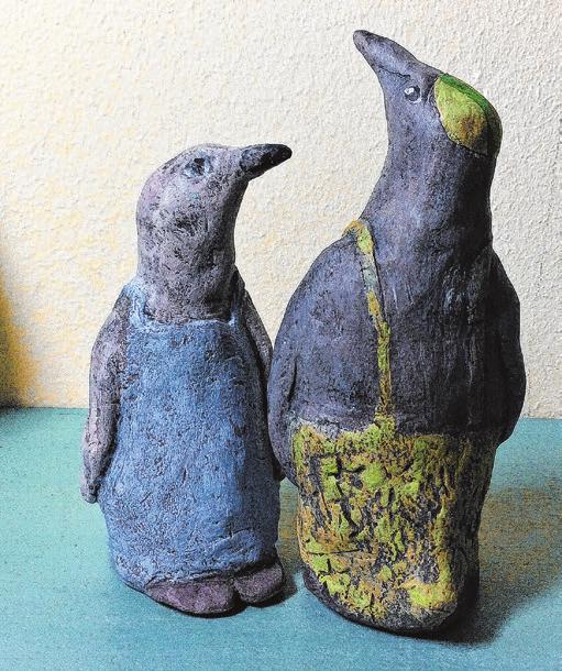 Pinguine aus der Werkstatt von K.C.Wenzel Plastiken + ObjekteFoto: Goldbekhaus