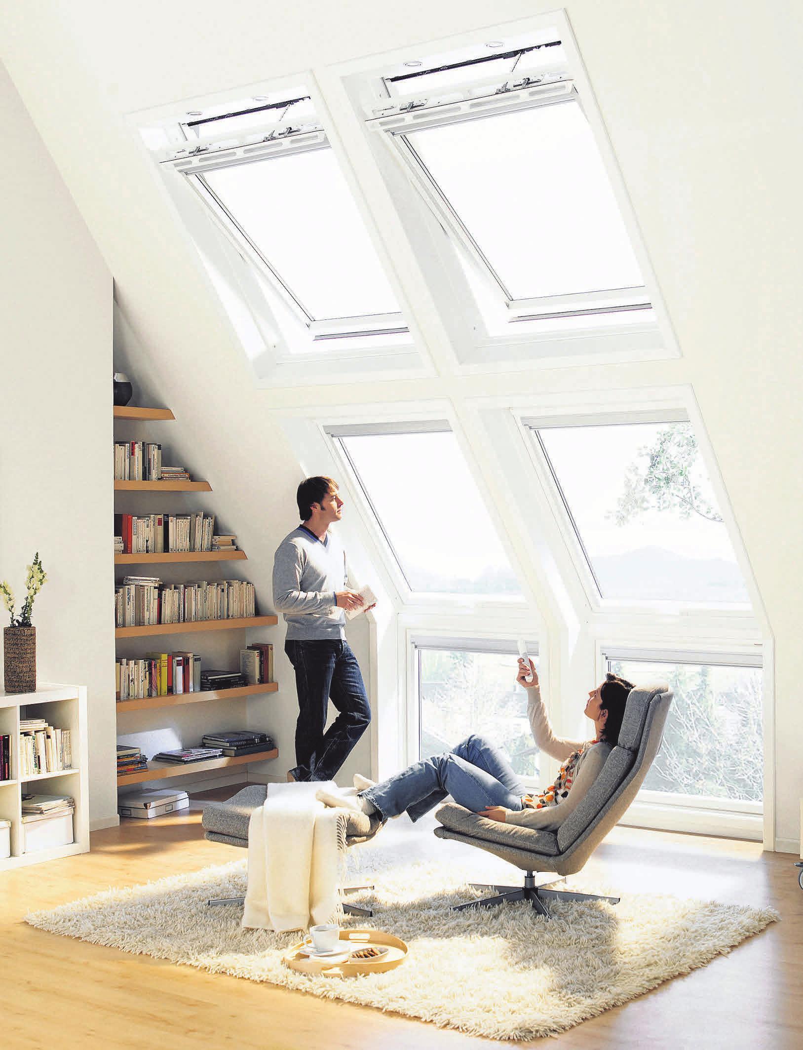 Dachfenster sorgen für lichtdurchflutete Räume. Foto: Velux