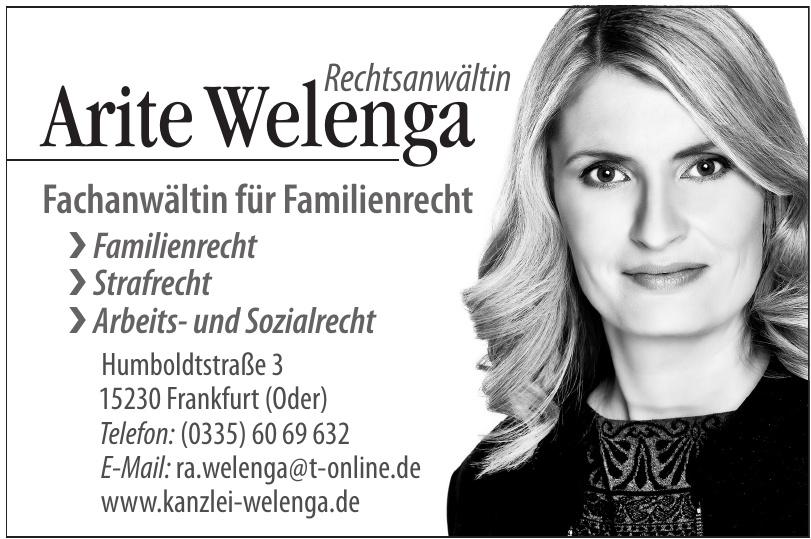 Rechtsanwältin Arite Welenga