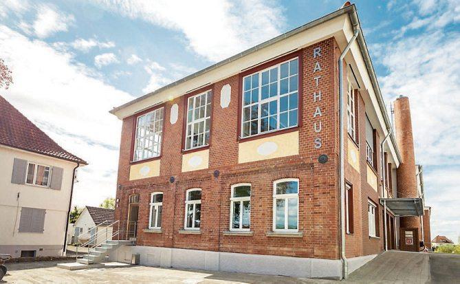 """Wände, die Geschichte(n) erzählen: die """"Kulturhistorische Inszenierung"""" im neuen Rathaus."""