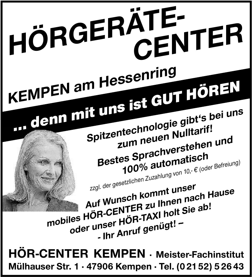 Hörgerätecenter Kempen am Hessenring