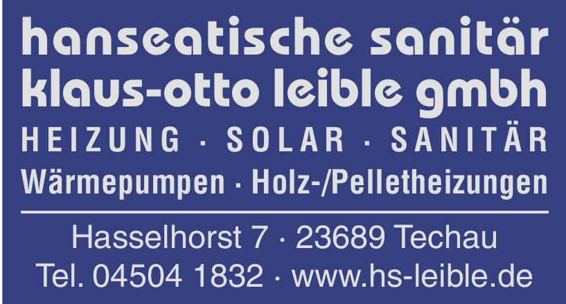 Hanseatische Sanitär Klaus-Otto Leible GmbH