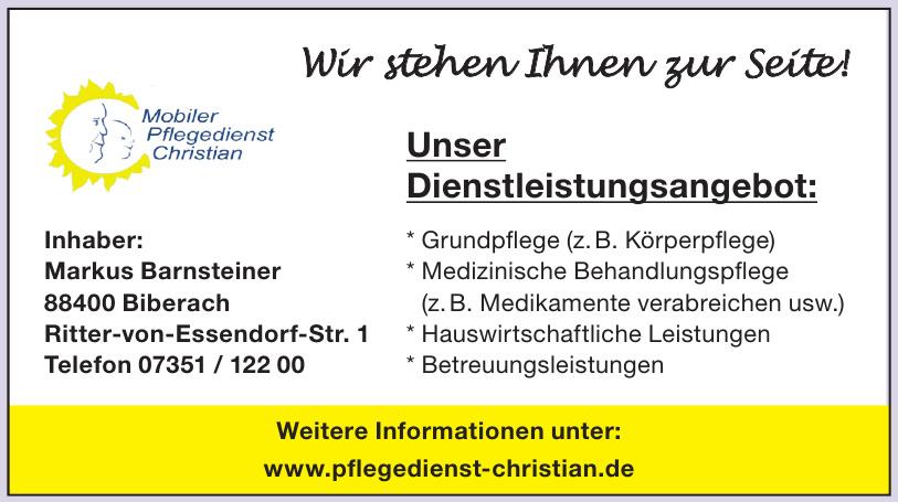 Mobiler Pflegedienst Christian, Inhaber Markus Barnsteiner