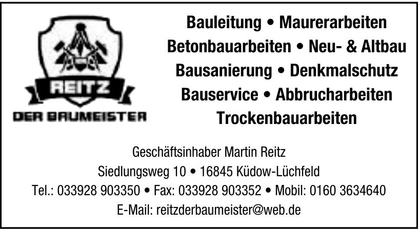 Der Baumeister Martin Reitz