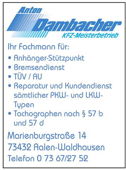 Anton Dambacher Kfz-Meisterbetrieb