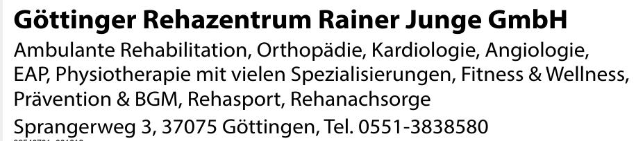 Göttinger Rehazentrum Rainer Junge GmbH