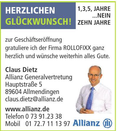 Claus Dietz Allianz Generalvertretung