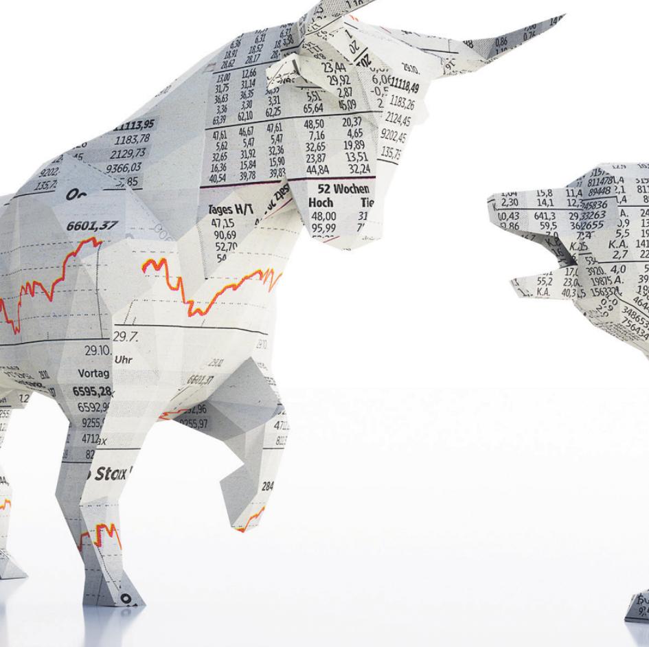 Wertpapiere und Fonds sind risikoreich, können aber auf Dauer hohe Gewinne einbringen Bild: peterschreiber.media/ stock.adobe.com