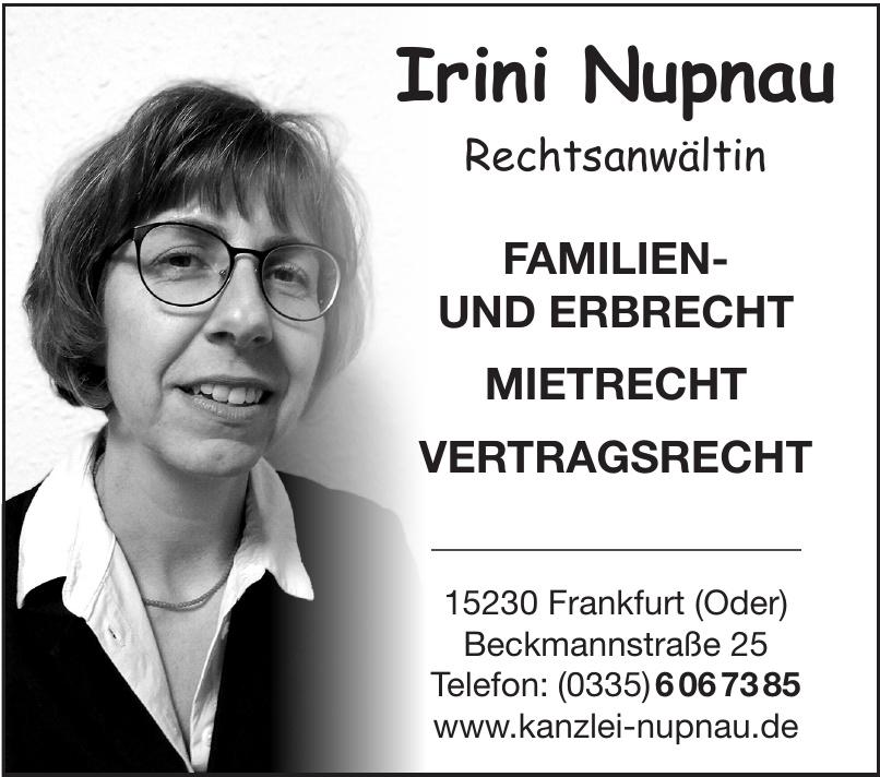 Irini Nupnau Rechtsanwältin