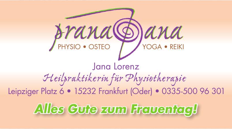 Jana Lorenz Heilpraktikerin für Physiotherapie