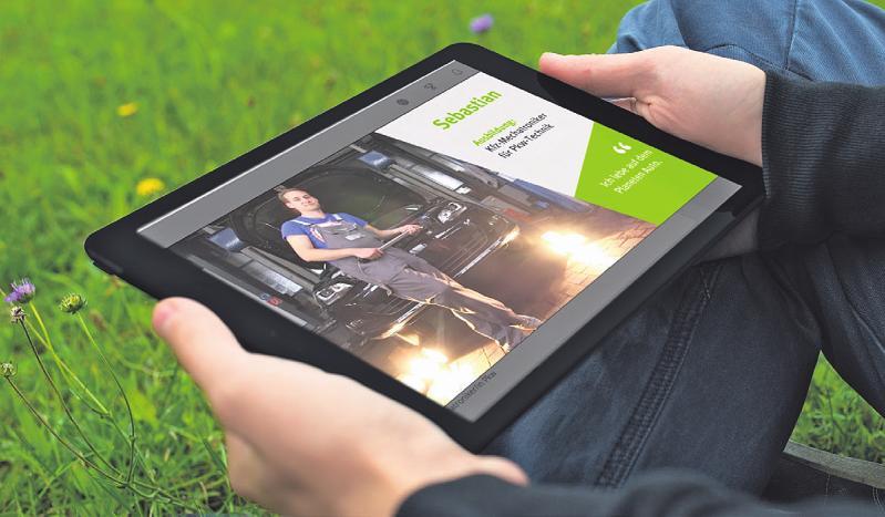 """Bei der ersten digitalen Ausbildungsmesse """"Ich liebe Autos"""" erhalten Interessierte zahlreiche Infos rund ums Thema Bild: zVg"""