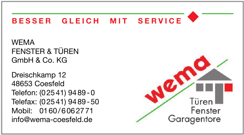 Wema Fenster & Türen GmbH & Co. KG