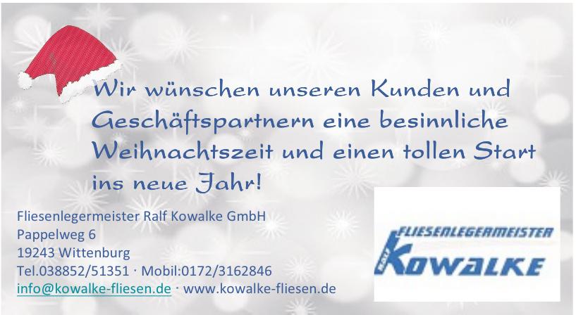 Fliesenlegermeister Ralf Kowalke GmbH