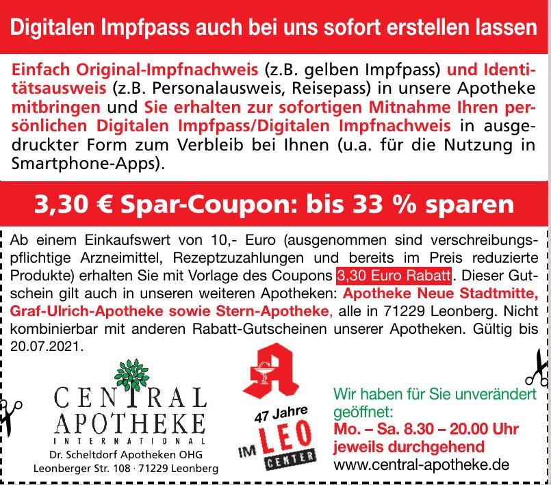 Central Apotheke - Dr. Scheltdorf Apotheken OHG