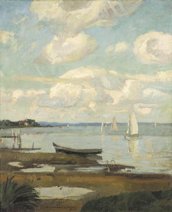Christian Landenberger (1862-1927) Segelboote auf dem Ammersee, 1921, Privatbesitz