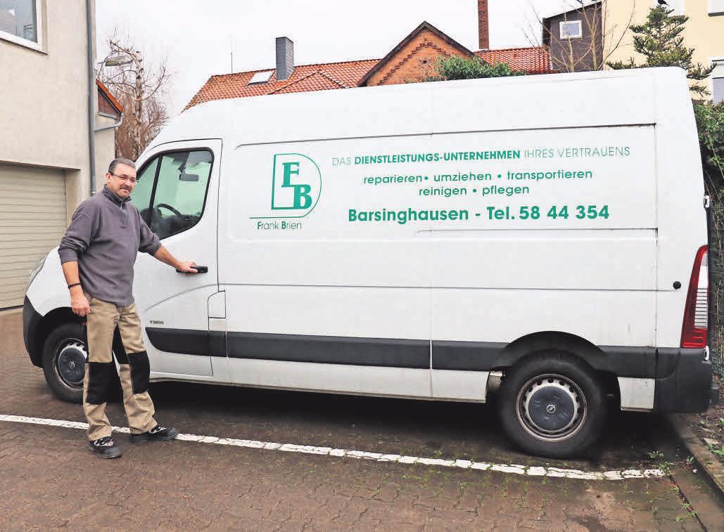 Ein großer Fuhrpark und das passende Werkzeug gehören natürlich zum Equipment des Dienstleistungsunternehmens von Frank Brien.