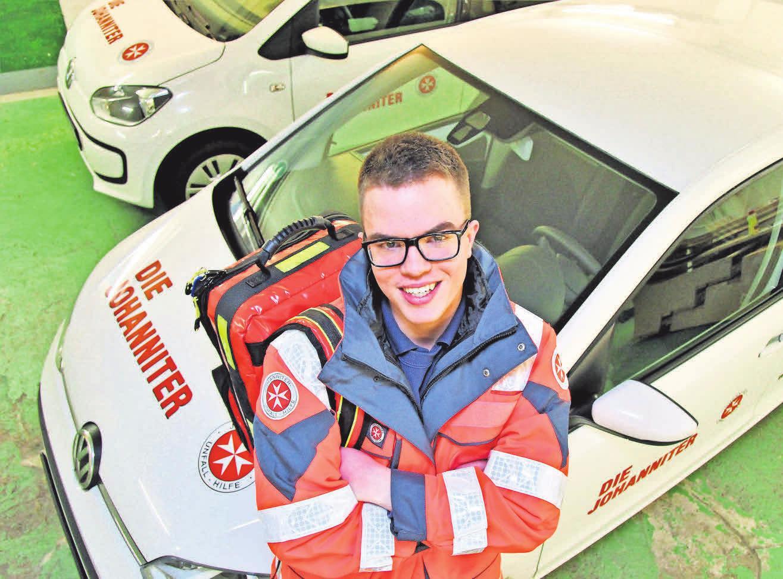 Bartek Kolka ist als Hausnotruffahrer im Einsatz. Foto: Johanniter-Unfall-Hilfe e.V.