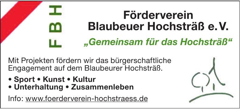 Förderverein Blaubeuer Hochsträß e. V.