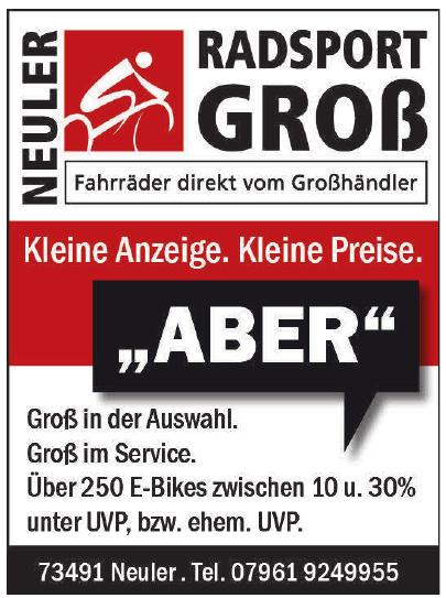 Radsport Groß
