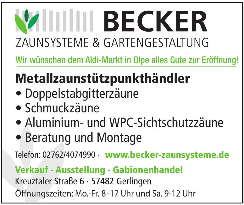Becker Zaunsysteme & Gartengestaltung