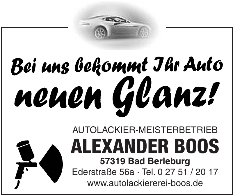Autilackier-Meisterbetrieb Alexander Boos