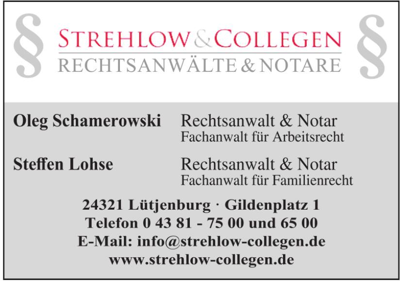 Strehlow & Collegen Rechtsanwälte & Notare