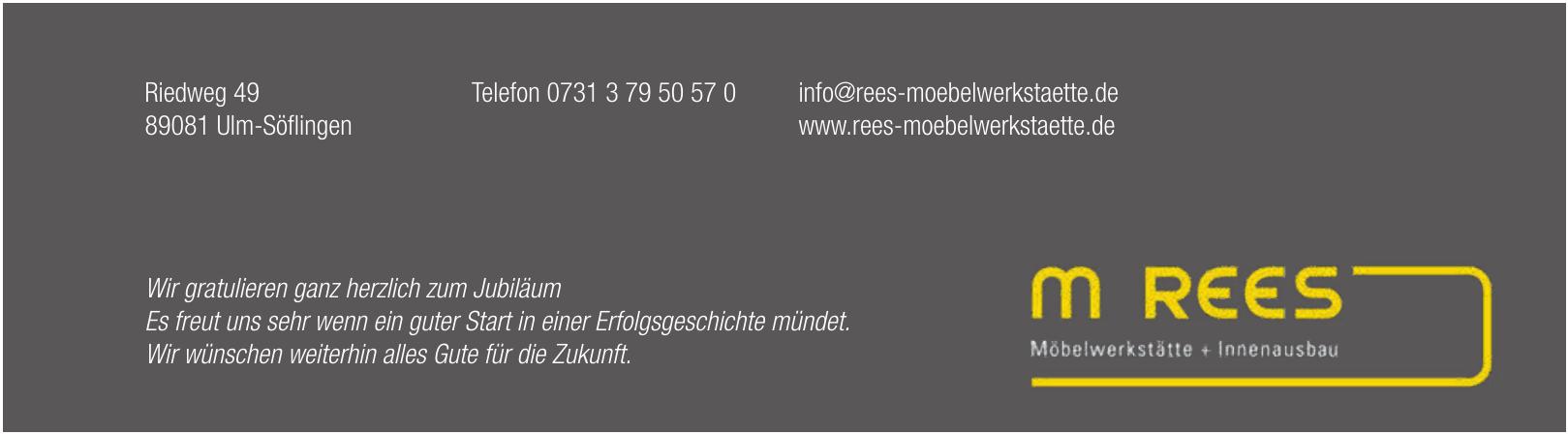 M. Rees - Möbelwerkstätte + Innenausbau