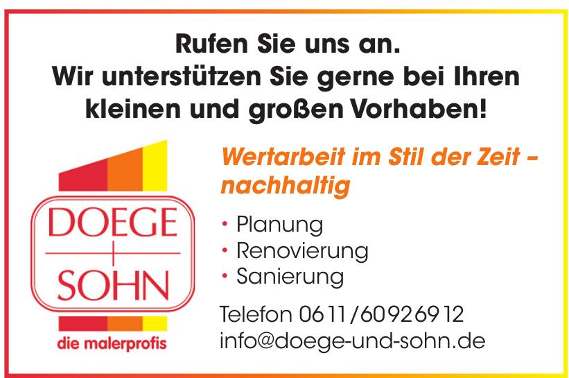Firma Doege und Sohn Malerbetrieb GmbH