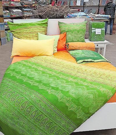Bietet auch für Bettwäsche farbenfrohes Design an: das Bassetti-Outlet. FOTO: BRÄUNLING