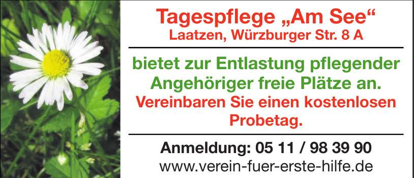 """Tagespflege """"Am See"""""""