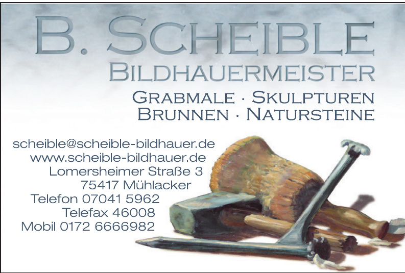 B. Schleible Bildhauermeister