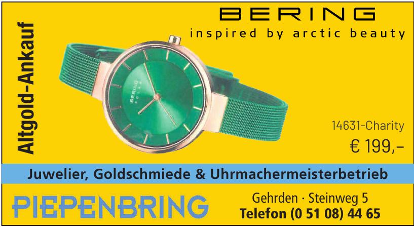 Juwelier, Goldschmiede & Uhrmachermeisterbetrieb Piepenbring