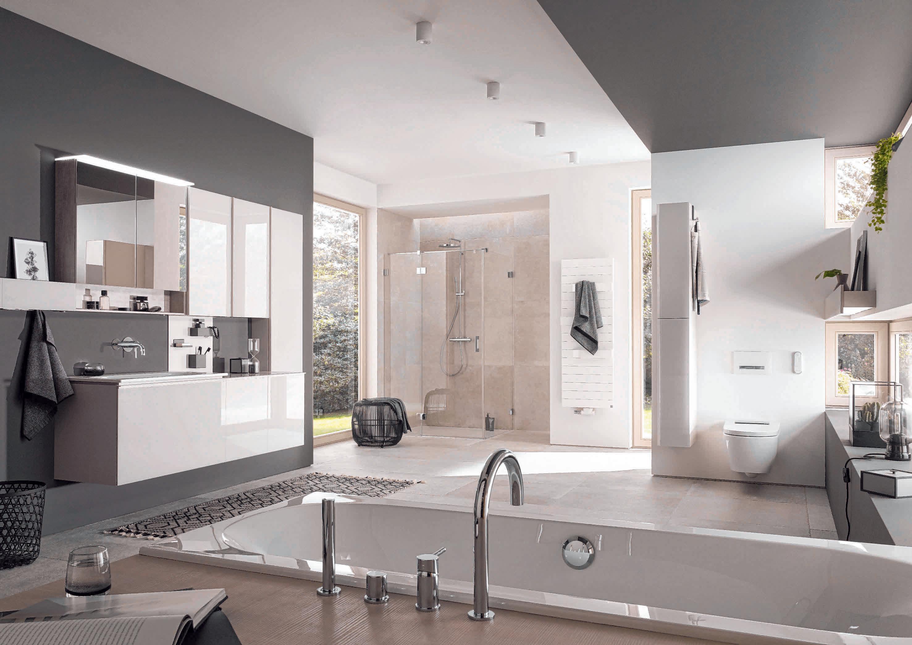 Die Reinigung mit einem sanften Wasserstrahl macht aus dem Bedürfnis Toilettengang ein echtes Wellness-Erlebnis.       FOTOS: DJD/GEBERIT