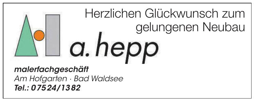 A. Hepp Malerfachgeschäft
