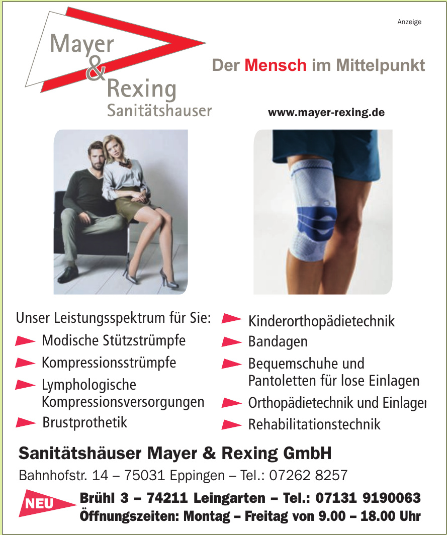 Sanitätshäuser Mayer & Rexing GmbH