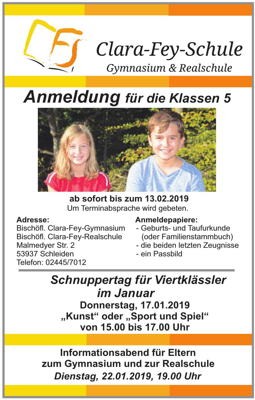 Clara-Fey-Schule - Gymnasium und Realschule