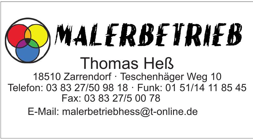 Malerbetrieb Thomas Heß
