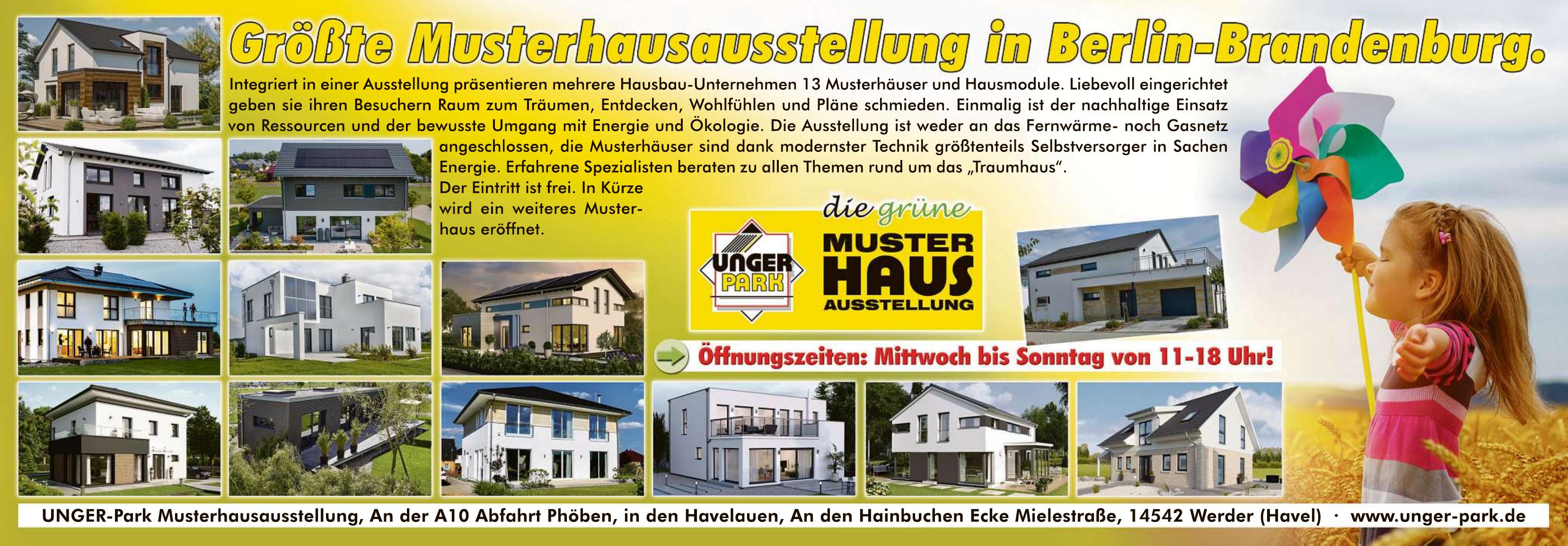 UNGER-Park Musterhausausstellung