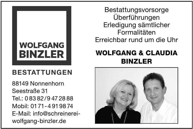 Wolfgang & Claudia Binzler